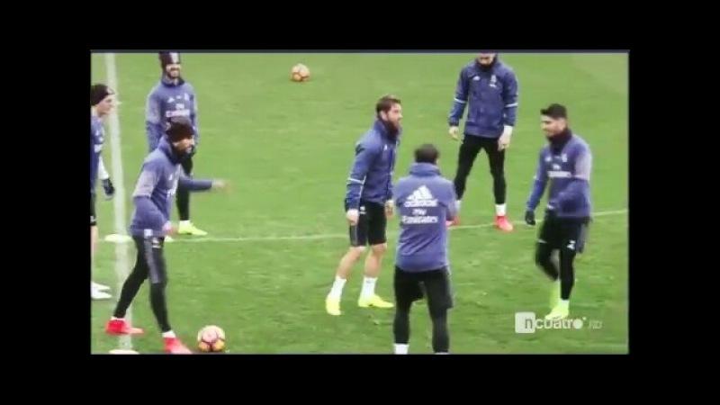 La mirada 'asesina' de Sergio Ramos después de que Morata le tirase un caño