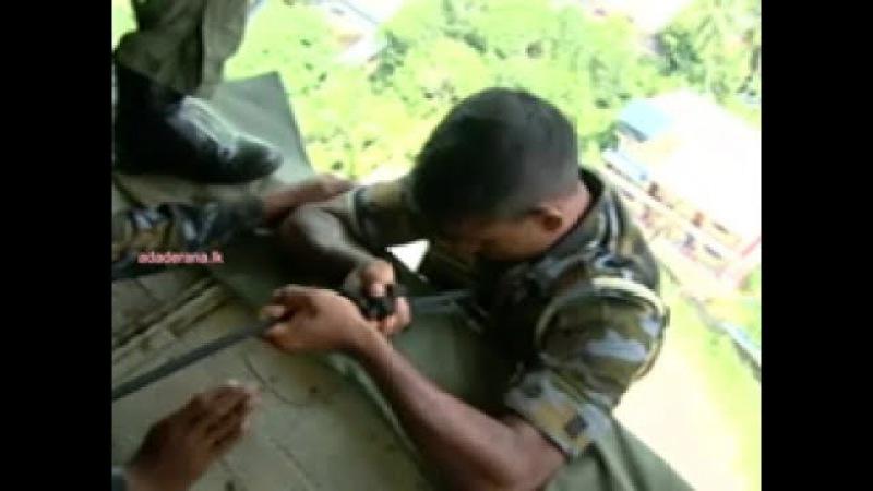 Aerial footage of present flood situation across Sri Lanka - Day 02