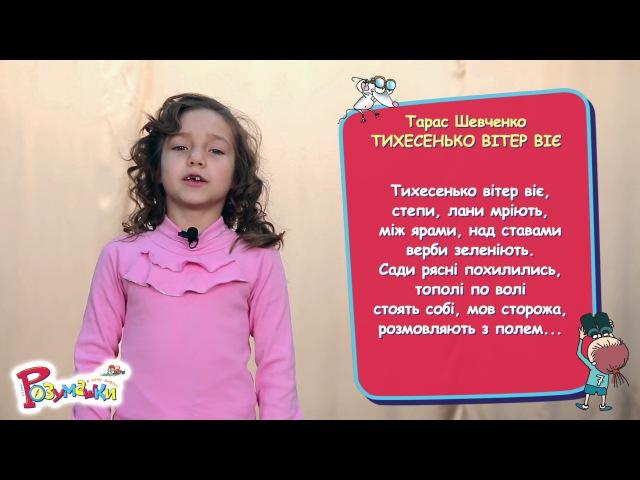 Тарас Шевченко ТИХЕСЕНЬКО ВІТЕР ВІЄ 2 клас