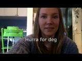 Норвежская песня на день рождения. Hurra for deg