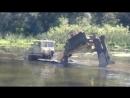 Кабелеукладчик на базе Кировец К 700 А 701 ПМК 106 идет вброд