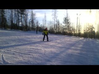 Гора Ежовая, первый в жизни спуск...