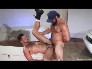 Hairy muscle hunk ass fucking friend