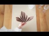 Мастер-класс: как сложить салфетку в виде кленового листа