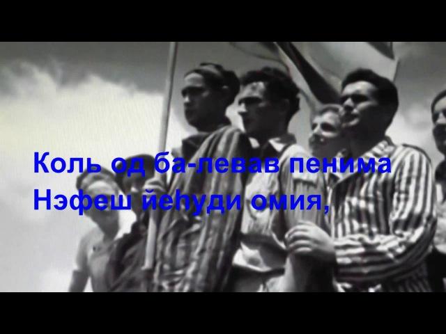 Песня Хатиква Гимн Израиля
