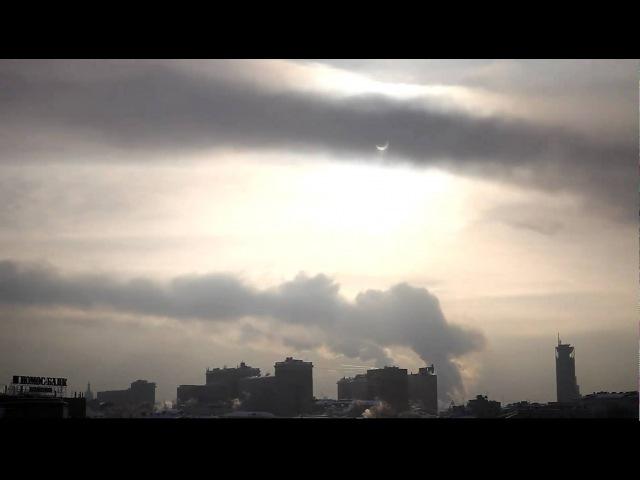 Солнечное затмение в Москве. 04.01.2011.