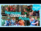 Recreated Childhood Photos With Peyton List &amp Kevin Quinn  WDW Best Day Ever
