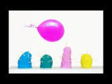 Learn colors and play Kinetic Sand Rainbow Cactus VS Balloon How To Make For Children