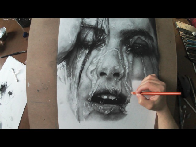 Hyperrealistic Portrait | Pencil Drawing Time-lapse