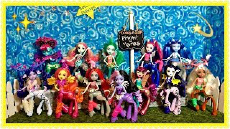 All 12 FRIGHT MARES Collection! Every vinyl Monster High pony for our Doll House Catacombs display!