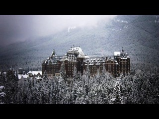 Fresh Snow at the Banff Springs Hotel