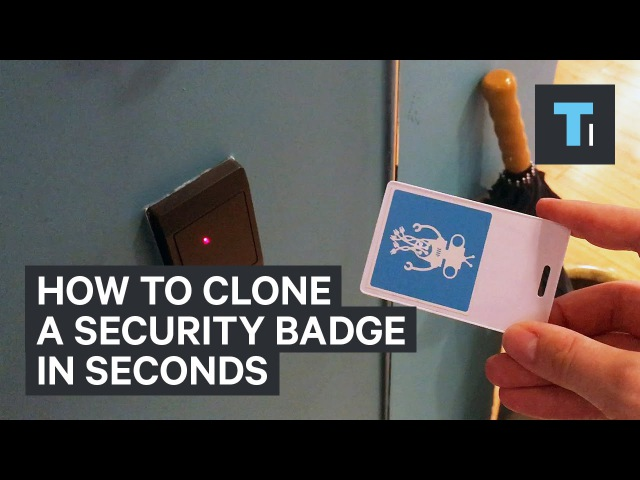 How to clone a security badge in seconds