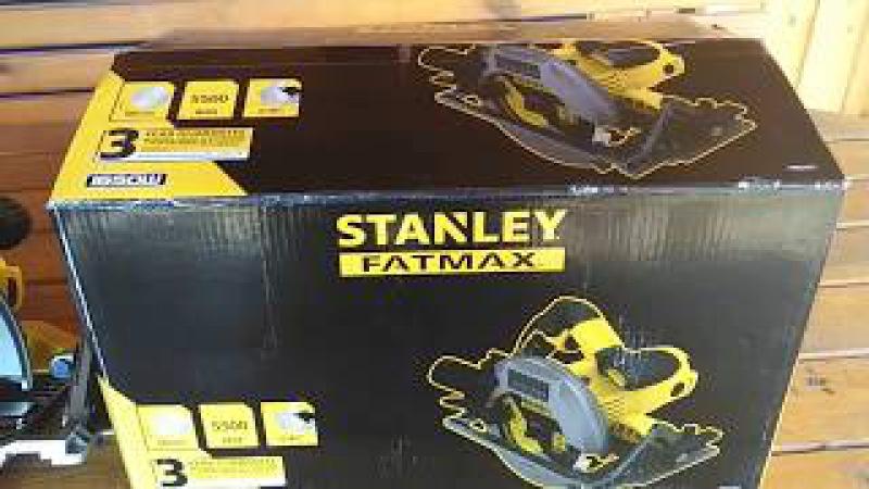 пила циркулярная stanley fatmax 1650 вт 190 мм