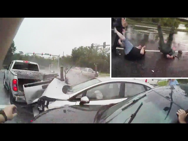 Body Cam 2 Deputies Injured While Helping With Crash Scene. Pasco Sheriff