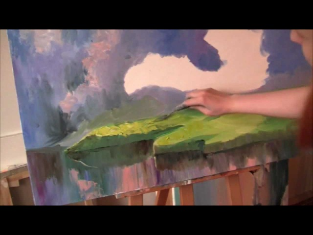 Lyuba Diker. Lesson oil painting . .Spring .Video..