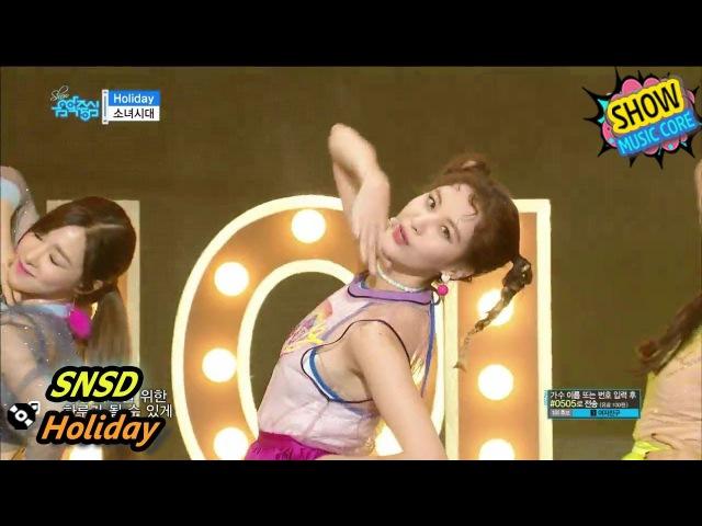 [Comeback Stage] Girls' Generation - Holiday, 소녀시대 - 홀리데이 Show Music core 20170812