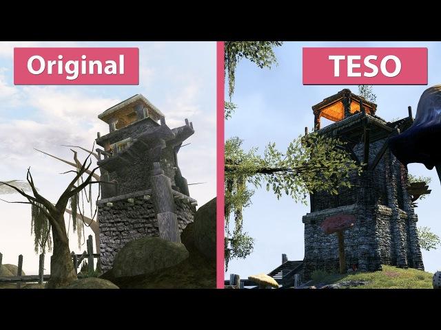 Morrowind – Original (2002) vs. ESO (2017) The Elder Scrolls Online Graphics Comparison