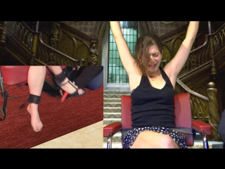 CALISSA HAS BEEN CAPTURED IN THE MANOR OF TICKLES : FEET TICKLE TORTURE
