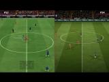 Сравнение графики FIFA 18 на PS3 и PS4.