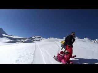 Семейный сноубординг, Эльбрус.