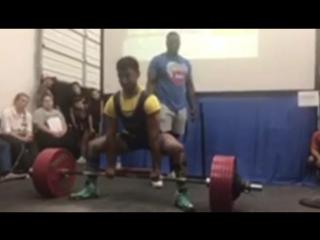 Алекс Махер - тяга 342,5 кг (77 кг)