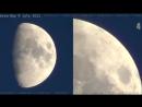 НЛО на орбите Луны Оживленный трафик! Реальные съемки!