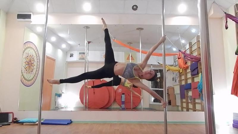первый Х флаг TriStudio Иркутск Pole Dance