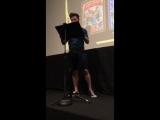 Chris Colfer introducing the LA #TLOS6 Costume Contest
