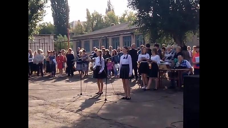 Вероника и Настя с песней о школе