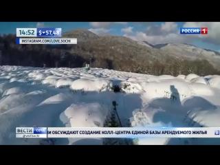 Для катания на сноуборде в Сочи приспособили чайные плантации