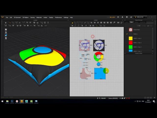 Моделирование подушек в Marvelous Designer 6 и 3Ds Max 2016