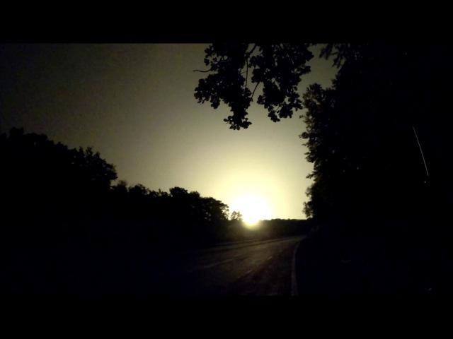 Потужний вибух Калинівка/Мощный взрыв Калиновка, знято за 2 км. від епіцентру