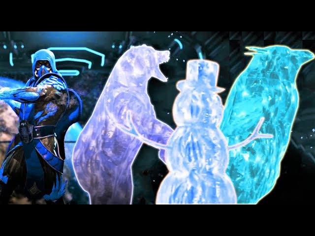 INJUSTICE 2 - ALL MK3 ANIMALITY/FRIENDSHIP ICE CLONES!! Zub-Zero Friendship, Scorpion Penguin