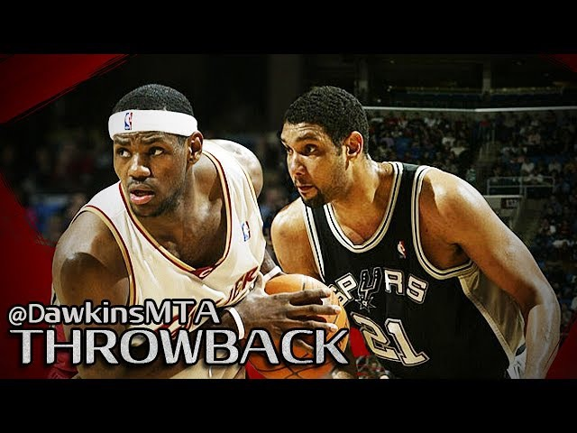 Rookie LeBron James vs NBA Champ Tim Duncan Full Duel 2004.02.20 - TD With 21, Bron With 32 Pts!