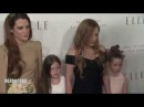 Lisa Marie Presley Riley Keough and twins at the 24th Annual ELLE Women