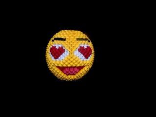 3D origami Smiley face 2 tutorial || DIY paper Smiley face 2