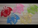 БАБОЧКА вязание крючком ЧАСТЬ 1 How to crochet a butterfly