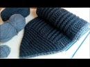 Мужской шарф спицами серый шарфец для сына