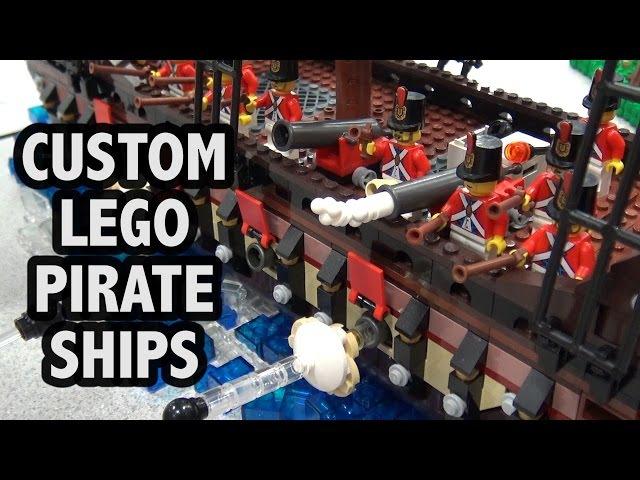 Custom LEGO Black Seas Baracuda's Revenge Pirate Ships