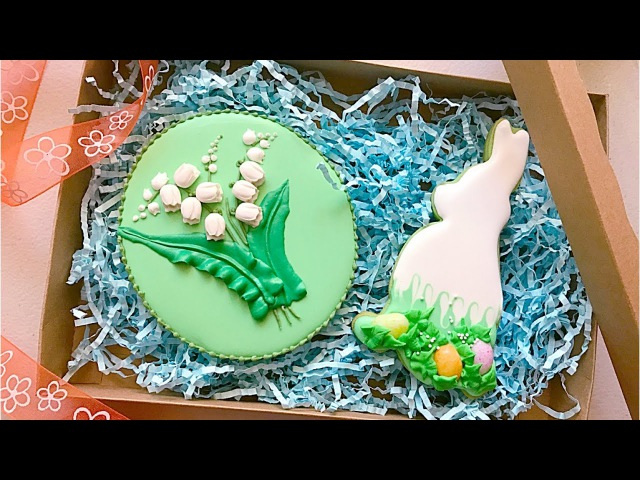 How to make fondant lily of the valley with tulip flower mold.🌷Cookie gift