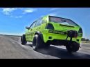 VW Golf MK2 VR6 Turbo 1100 HP Tuning FAST ACCELERATION SOUND