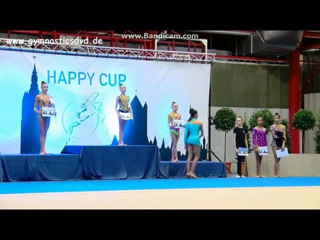 Award Ceremony - juniors (Hoop\Clubs) Happy Cup Ghent 2017