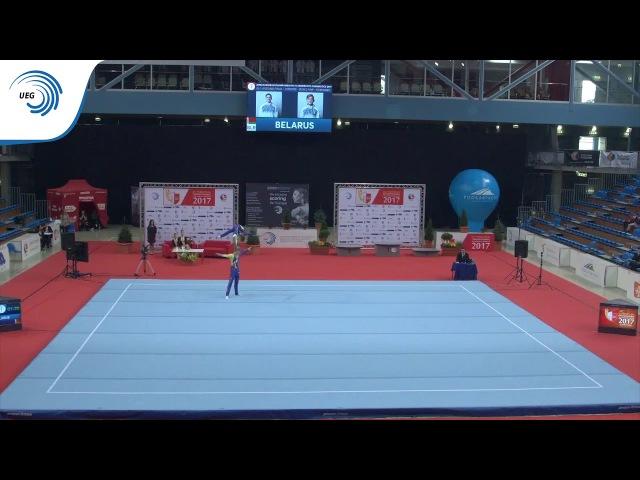 Aleh MIKHALEVICH Maksim MARKEVICH (BLR) - 2017 Acro Europeans, junior all-around final