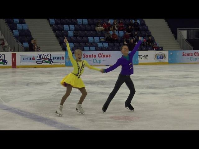 2017 Santa Claus Cup Anna RUMAK-Gleb GONCHAROV(RUS)-ID NON ISU BASIC NOVICE FREE DANCE