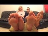 Two beautiful Russian girls feet pov