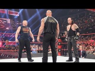 РУС: 545TV WWE RAW /  - Голдберг & Брок Леснар & Гробовщик - лицом к лицу