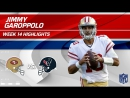 Jimmy Garoppolo Highlights vs. Texans! - 49ers vs. Texans - Wk 14 Player Highlights