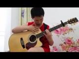 12 летний китайский самоучка на гитаре исполняет AC/DC
