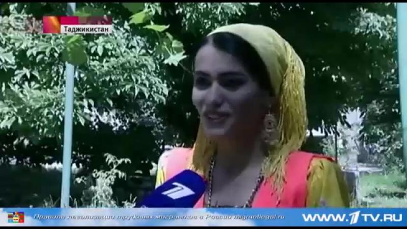 Девушка дворник из Душанбе. Очень красивая