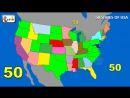 50 States States Song Fifty States of USA song States on US Map alphabetical order elearnin